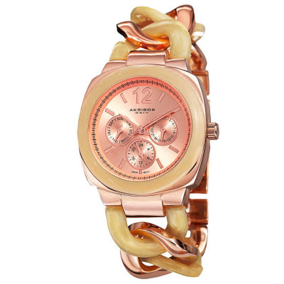 Akribos XXIV - Akribos XXIV Women's Quartz Multifunction Resin Chain Watch AK641RG