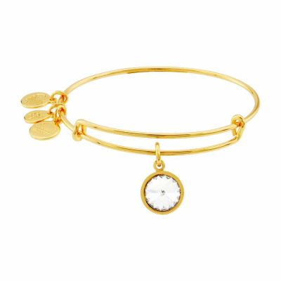 Alex And Ani - Alex and Ani Bangle Bar April Birthstone Yellow-Gold Expandable A09EB243G