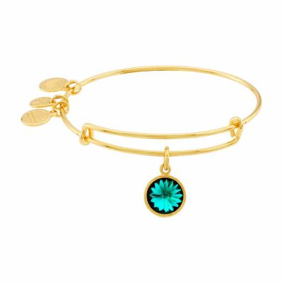Alex And Ani - Alex and Ani Bangle Bar May Birthstone Yellow-Gold Expandable A09EB244G