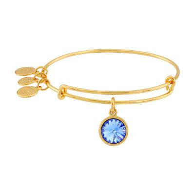Alex And Ani - Alex and Ani Bangle Bar September Birthstone Yellow-Gold Expandable A09EB248G