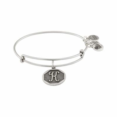 Alex And Ani - Alex And Ani Initial K Silver Expandable Bangle A13EB14KS
