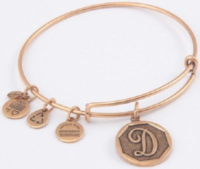 Alex And Ani - Alex and Ani Rafaelian Gold Finish Initial D Expandable Wire Bangle A13EB14DG