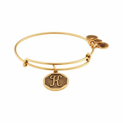Alex And Ani - Alex and Ani Rafaelian Gold Finish Initial K Expandable Wire Bangle A13EB14KG
