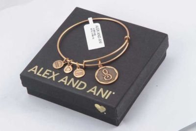 Alex And Ani - Alex and Ani Rafaelian Gold Finish Initial S Expandable Wire Bangle A13EB14SG