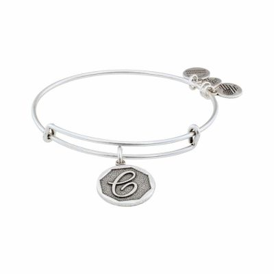 Alex And Ani - Alex and Ani Rafaelian Silver Finish Initial C Expandable Wire Bangle A13EB14CS