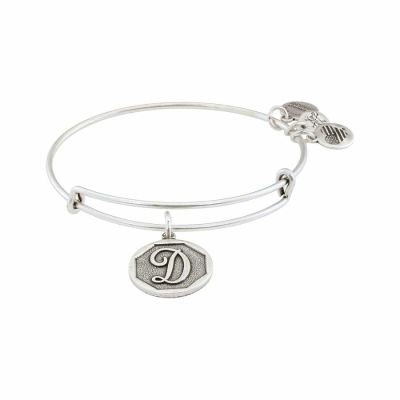 Alex And Ani - Alex and Ani Rafaelian Silver Finish Initial D Expandable Wire Bangle A13EB14DS
