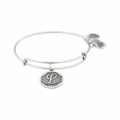 Alex And Ani - Alex and Ani Rafaelian Silver Finish Initial L Expandable Wire Bangle A13EB14LS