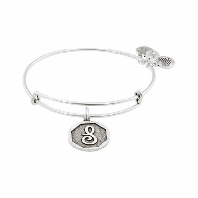 Alex And Ani - Alex and Ani Rafaelian Silver Finish Initial S Expandable Wire Bangle A13EB14SS