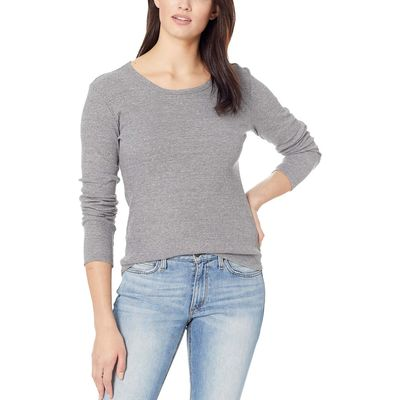 Alternative - Alternative Eco Grey Eco Rib Long Sleeve Keepsake