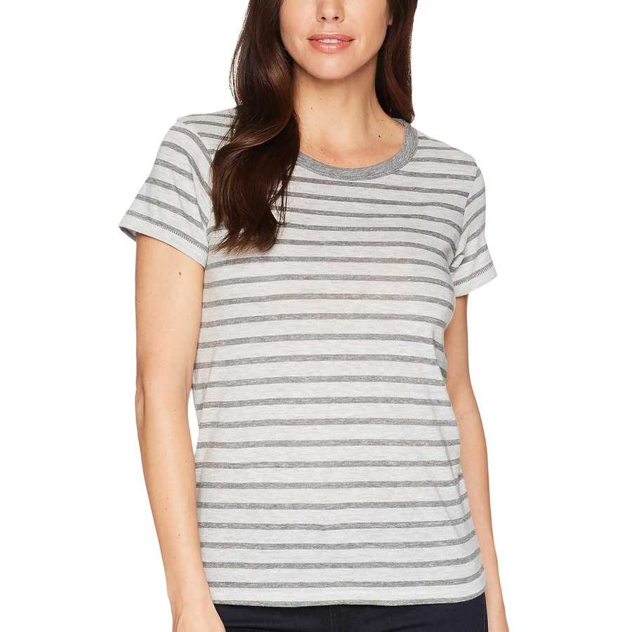Alternative Eco Grey Heather Riviera Stripe Ideal Tee