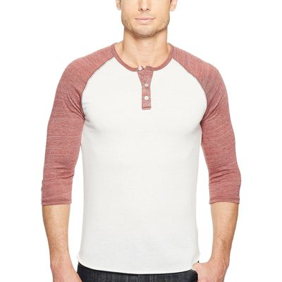 Alternative - Alternative Eco Ivory/Eco True Burgundy 3/4 Raglan Henley