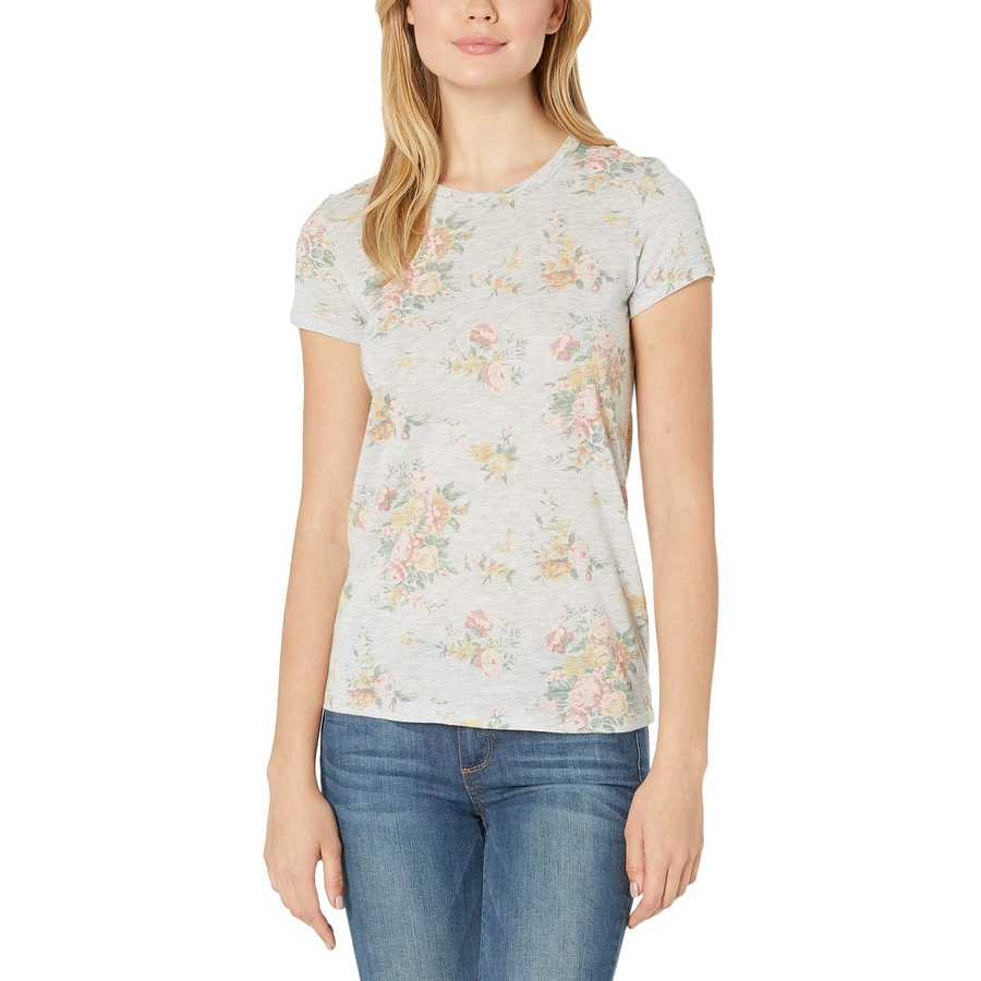 Alternative Eco Oatmeal Country Floral Ideal Tee