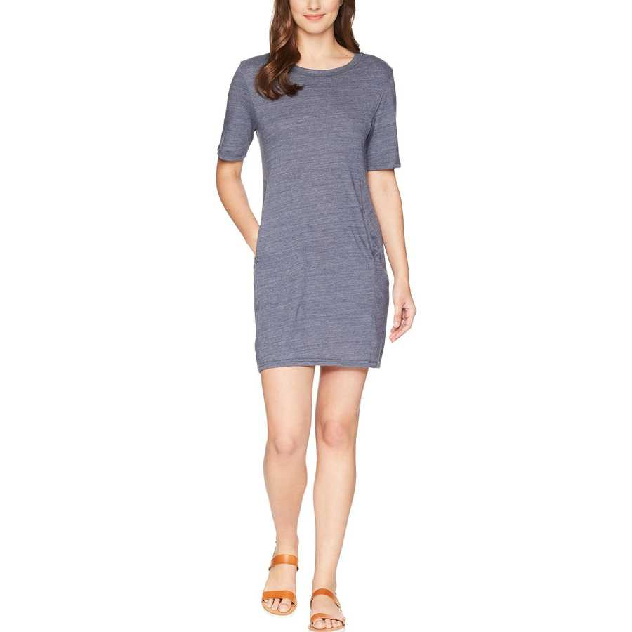 Alternative Eco True Navy Eco Jersey Pocket T-Shirt Dress