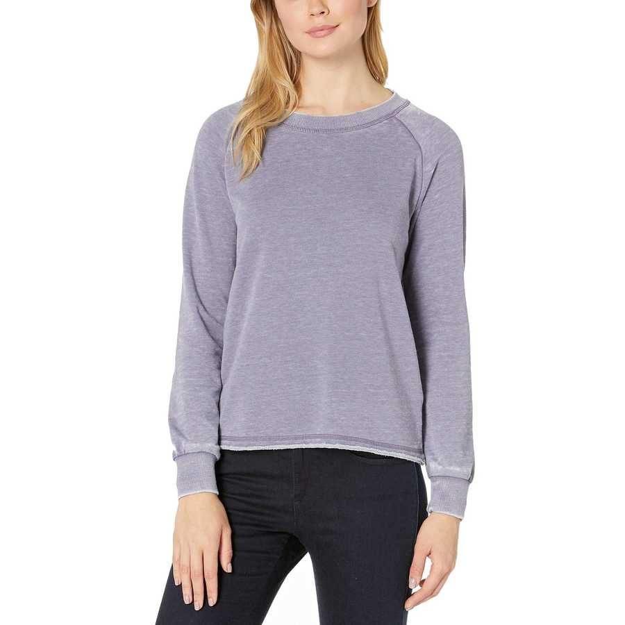 Alternative Lavender Grey Burnout French Terry Lazy Day Pullover