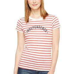 Alternative Red Riviera Stripe Independence Eco Jersey Yarn-Dye Stripe Ideal Tee - Thumbnail