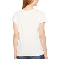 Alternative Vintage White Reactive Cotton Jersey Distressed Rocker Tee - Thumbnail