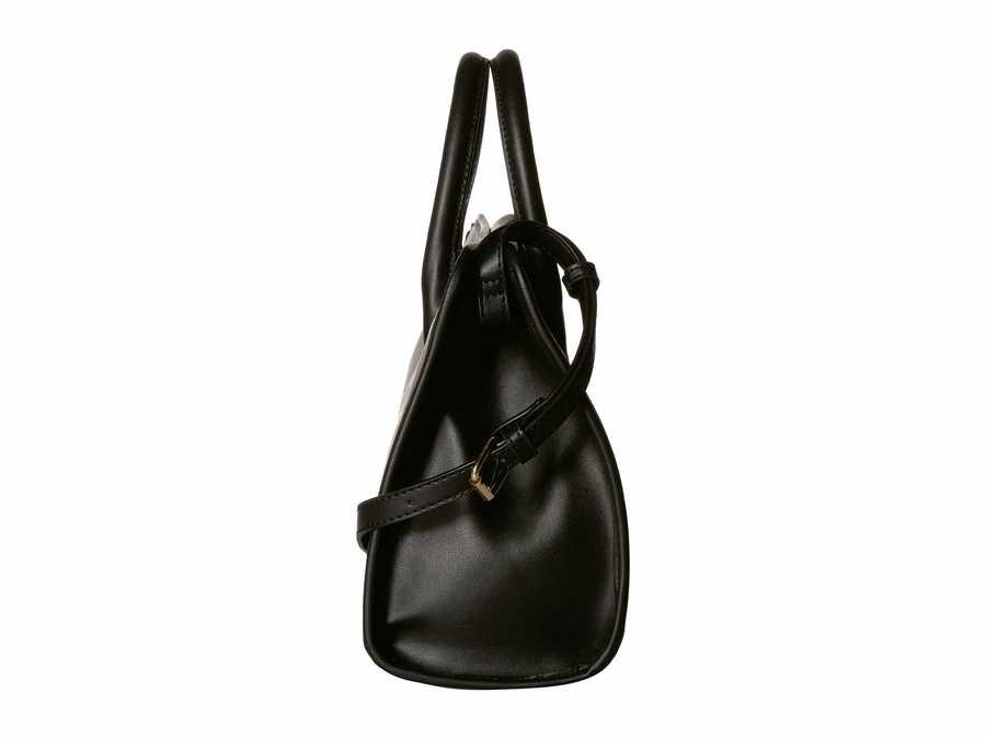 Anne Klein Black A Frame Satchel Handbag