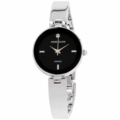 Anne Klein - Anne Klein Classic Black Dial Stainless Steel Ladies Watch AK2493BKSV