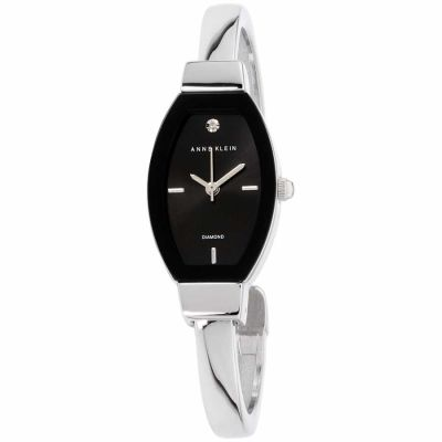 Anne Klein - Anne Klein Classic Black Dial Stainless Steel Ladies Watch AK2553BKSV
