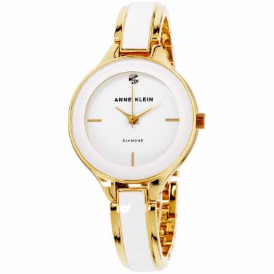 Anne Klein - Anne Klein Classic White Dial Stainless Steel Ladies Watch AK2702WTGB