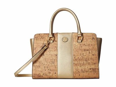 Anne Klein - Anne Klein Gold Winged Satchel Satchel Handbag