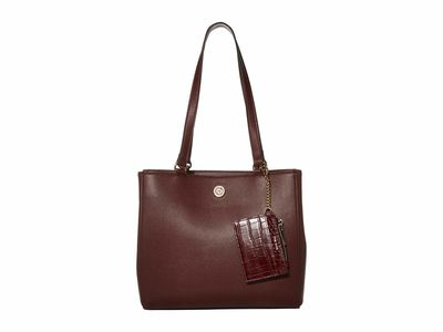 Anne Klein - Anne Klein Oxblood Medium Signature Work Tote Handbag