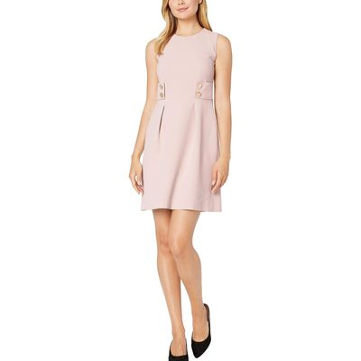Anne Klein - Anne Klein Oyster Shell Crepe Fit-And-Flare Dress