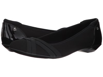 Anne Klein - Anne Klein Women Black Multi Fabric Olizer Flats