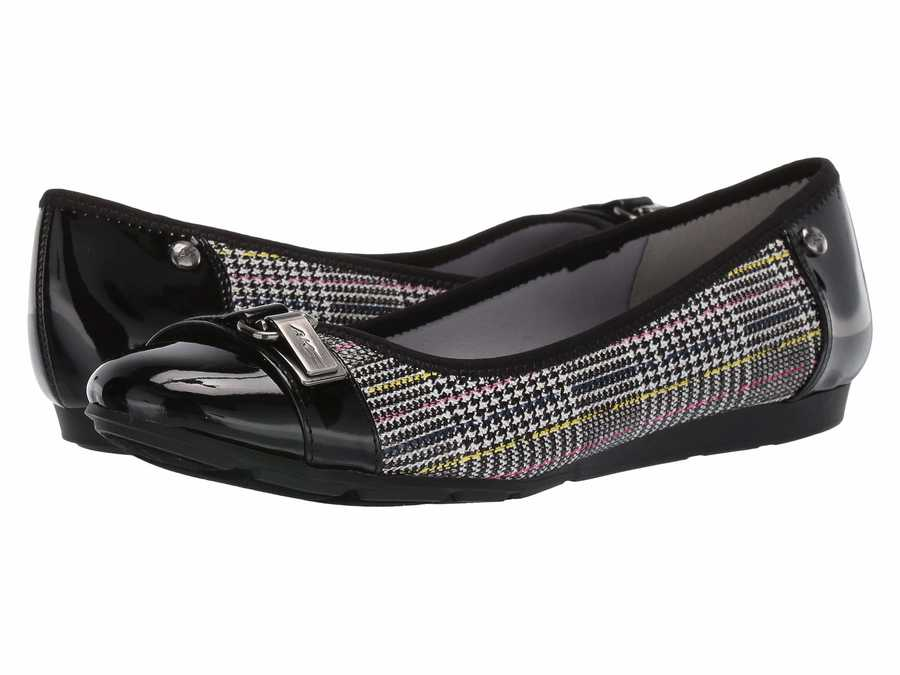 Anne Klein Women Black/White Multi Sport Able Flats