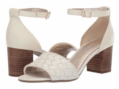 Anne Klein - Anne Klein Women Cream Carine Heeled Sandal Heeled Sandals