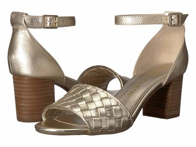 Anne Klein - Anne Klein Women Light Gold Carine Heeled Sandal Heeled Sandals