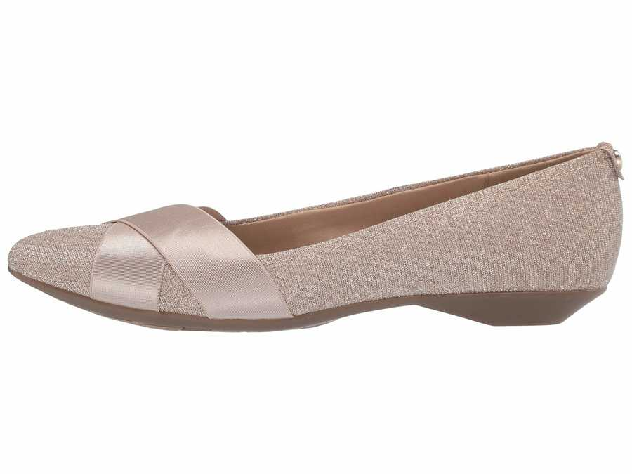 Anne Klein Women Light Gold Multi Sport Oalise Flats