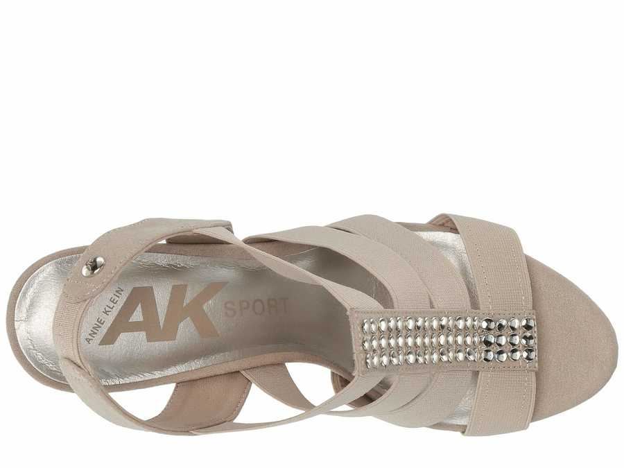 Anne Klein Women Light Taupe Sport İmforyou Heeled Sandals