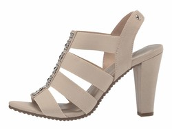 Anne Klein Women Light Taupe Sport İmforyou Heeled Sandals - Thumbnail