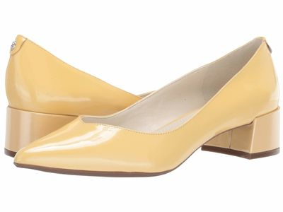 Anne Klein - Anne Klein Women Light Yellow Norwood Block Kitten Heel Pumps