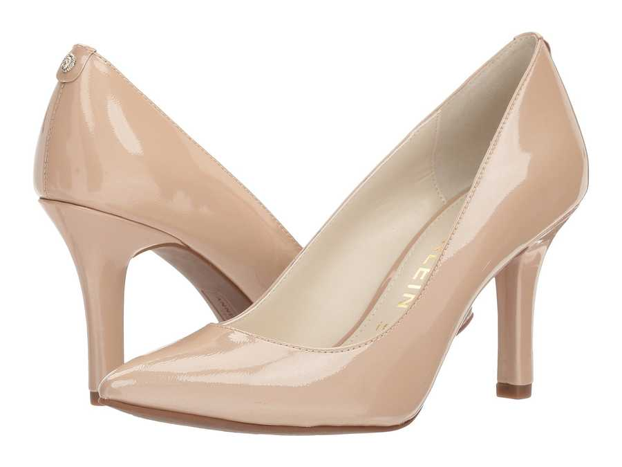 Anne Klein Women Natural Patent Leather Faelyn Pumps