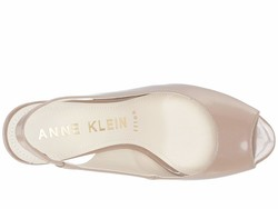 Anne Klein Women Natural Patent Maurise Heeled Sandals - Thumbnail
