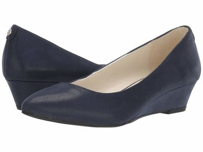 Anne Klein - Anne Klein Women Navy Emera Wedge Heels