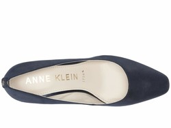 Anne Klein Women Navy Fabric İsley Wedge Heels - Thumbnail