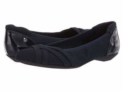 Anne Klein Women Navy Multi Olizer Flats