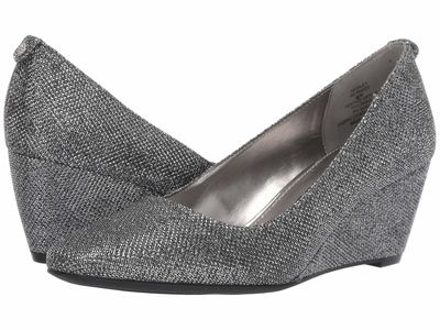 Anne Klein - Anne Klein Women Silver İsley Wedge Heels