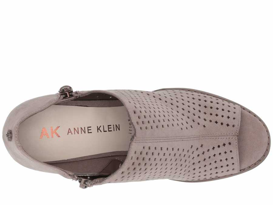 Anne Klein Women Taupe Reesey Heeled Sandals