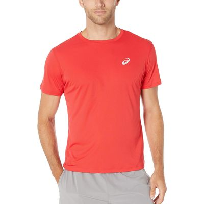 Asics - Asıcs Classic Red Run Silver Short Sleeve Top