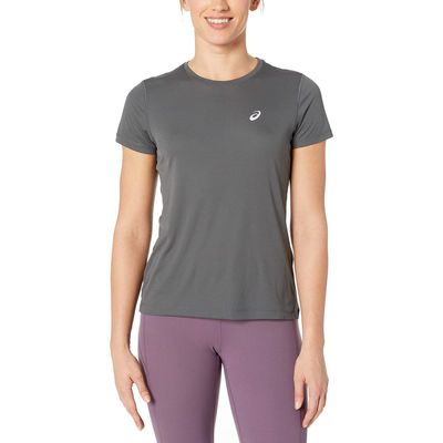 Asics - Asıcs Dark Grey Run Silver Short Sleeve Top