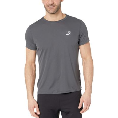 Asıcs Dark Grey Run Silver Short Sleeve Top