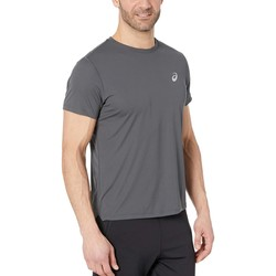 Asıcs Dark Grey Run Silver Short Sleeve Top - Thumbnail