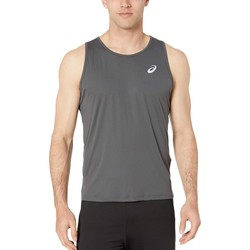 Asıcs Dark Grey Run Silver Singlet - Thumbnail