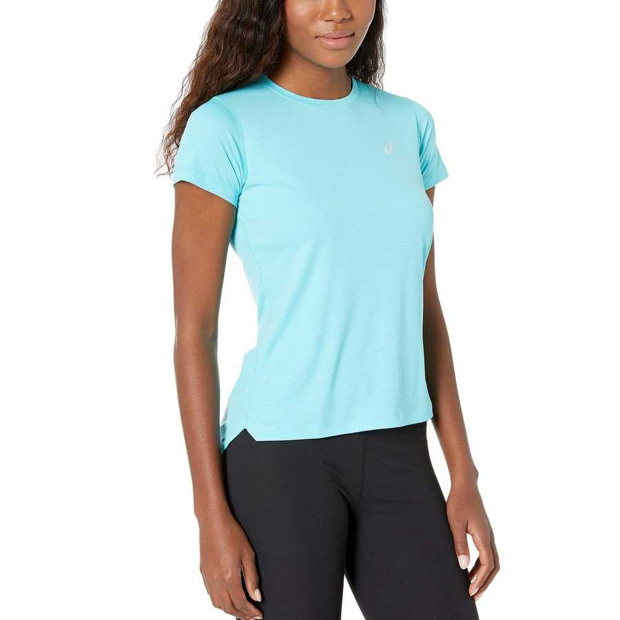 Asıcs Ice Mint Run Silver Short Sleeve Top