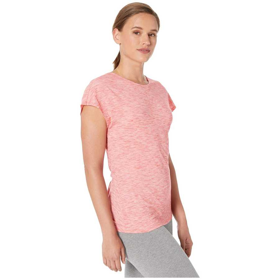 Asıcs Laser Pink Heather Short Sleeve Tee