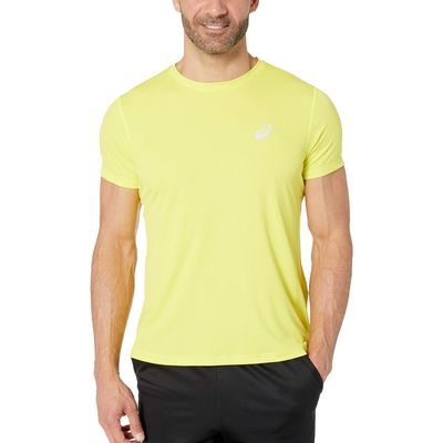 Asics - Asıcs Lemon Spark Run Silver Short Sleeve Top
